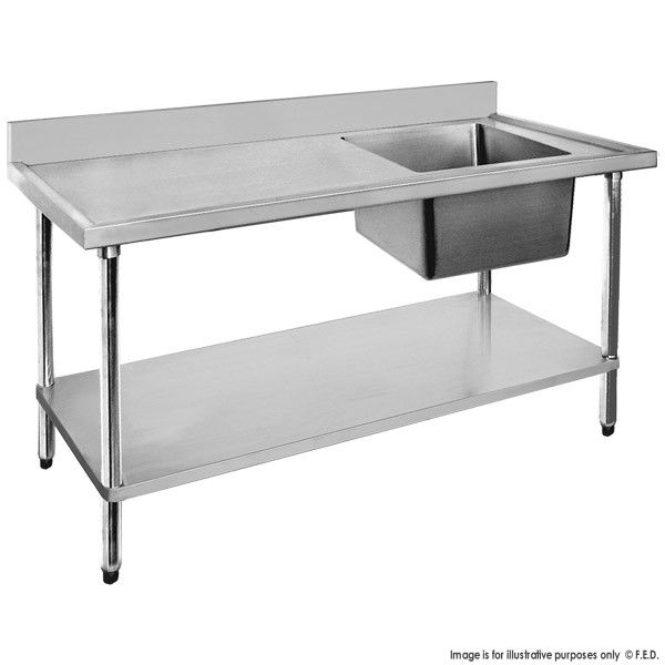 Economic 304 Grade Stainless Steel Single Sink Benches 700