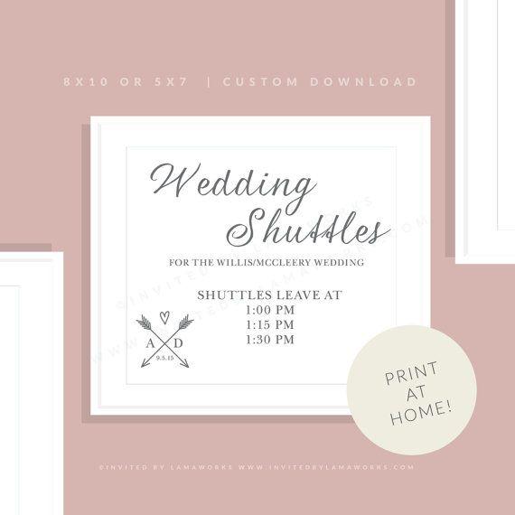 Wedding Suttle Sign Printable Wedding Shuttle Sign Downloadable Wedding Shuttle Sign Wedding Wedding Printables Wedding Ideas 2018 Wedding Transportation