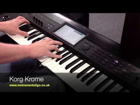 ▷ Korg KROSS Vs Korg KROME Keyboard Demo - YouTube