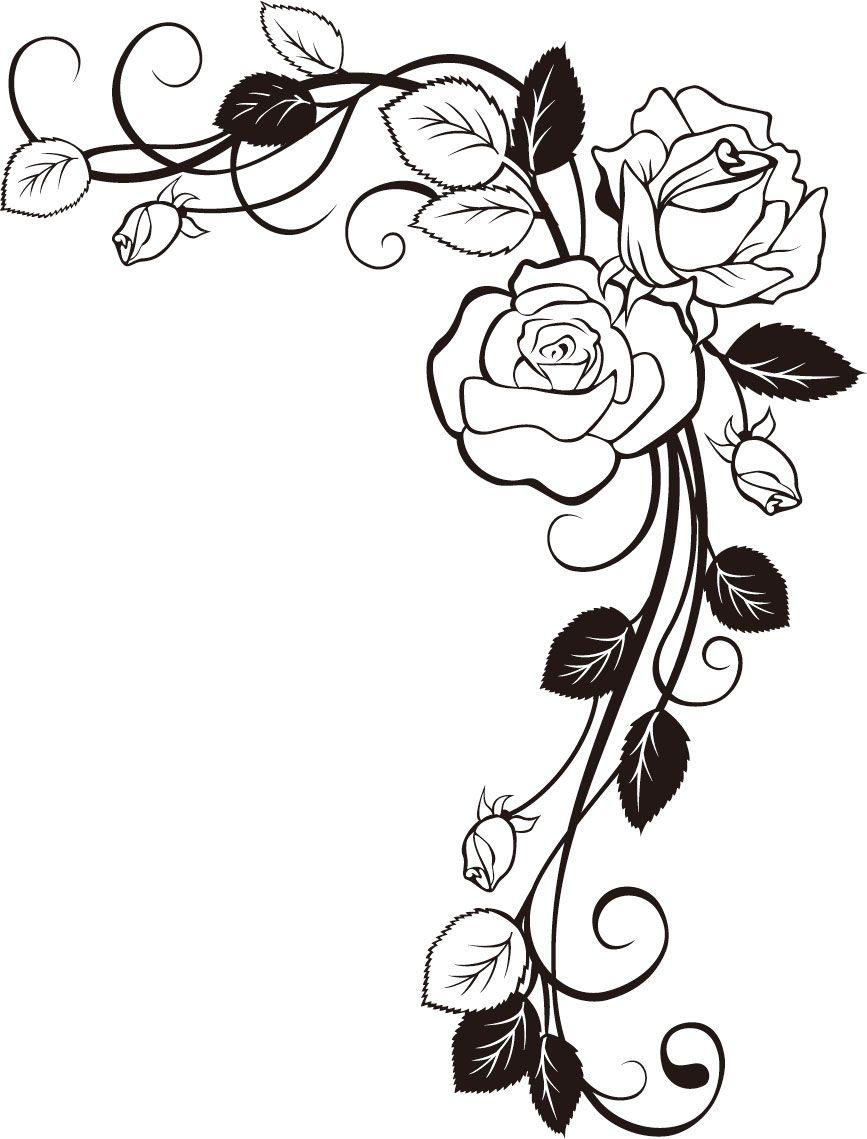 Материал для декораций угол розы - образец изображения | random