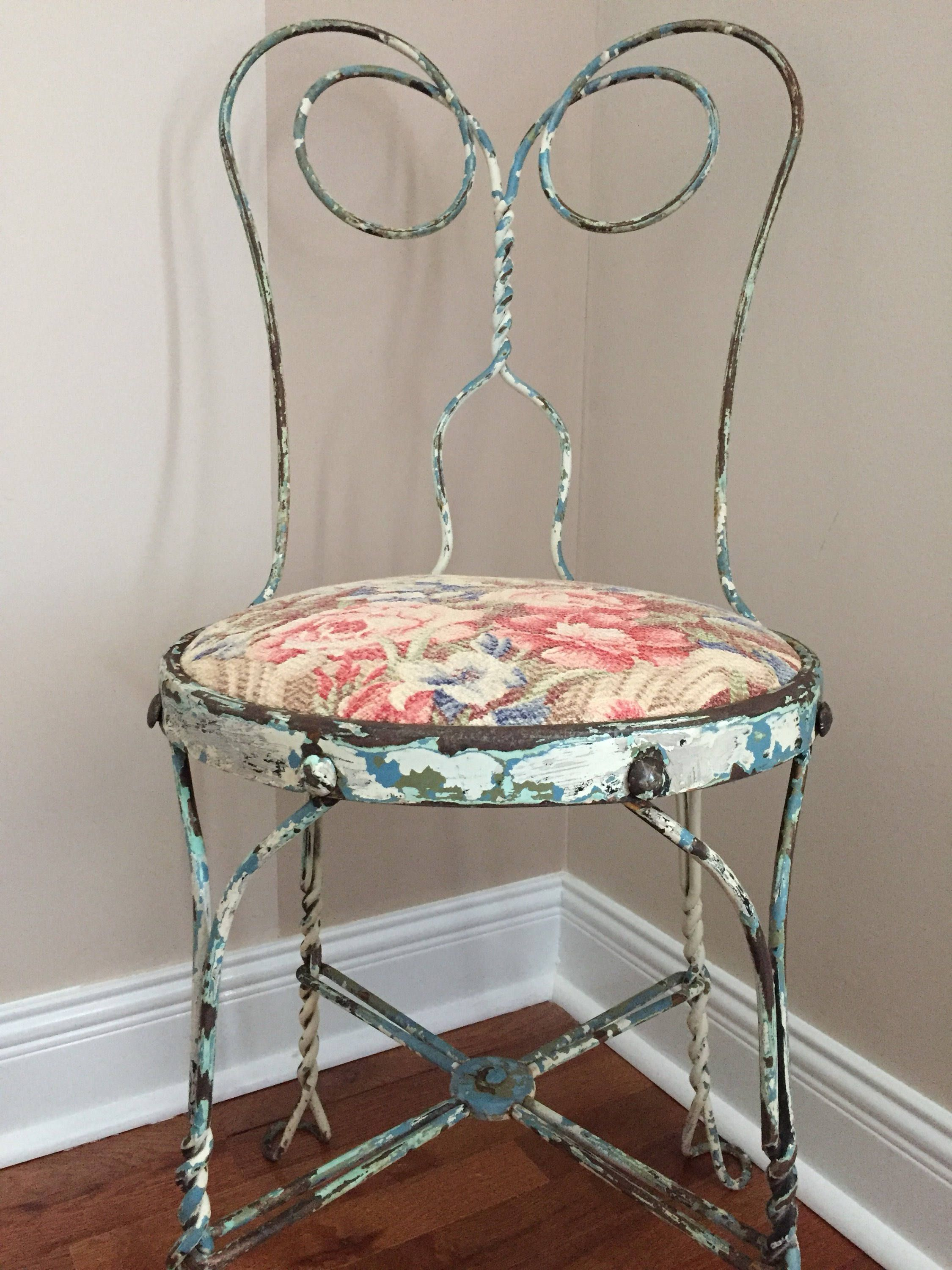 Vintage Ice Cream Metal Chair So Shabby