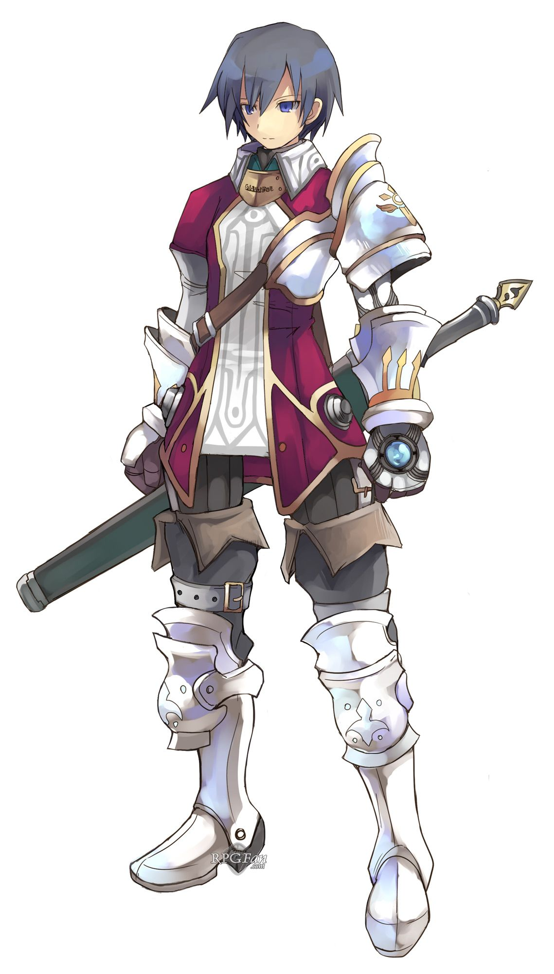 Anime Characters Knights : Luminous arc roland fantasy pinterest