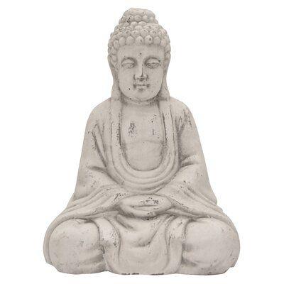 Bungalow Rose Sempronius Sitting Buddha Figurine #buddhadecor