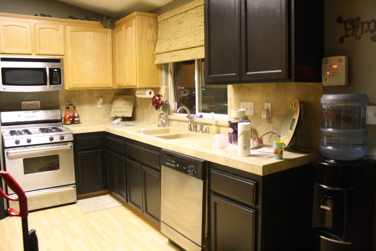 How to paint over oak cabinets | Small kitchen layouts ...