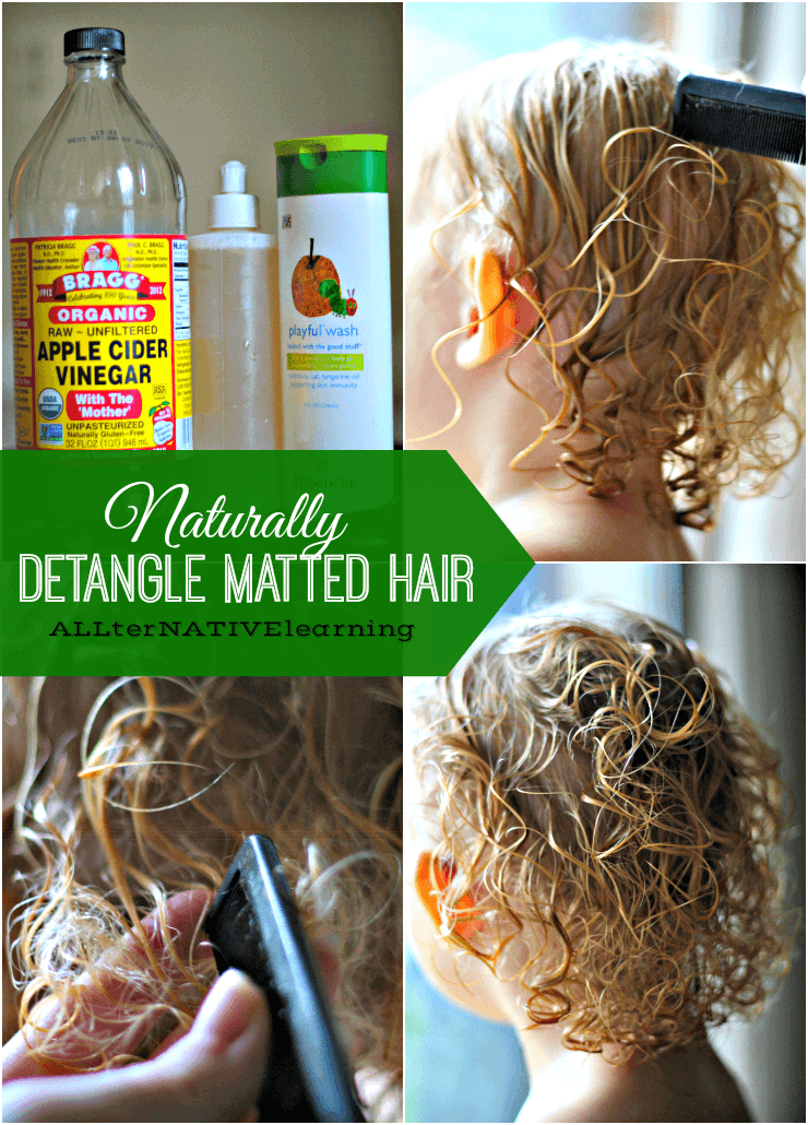 How To Detangle Matted Hair Matted Hair Diy Hair Detangler Diy Hair Detangler Spray