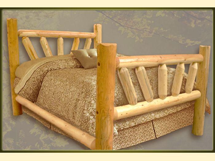 GoodTimber Large Sunburst Log Bed