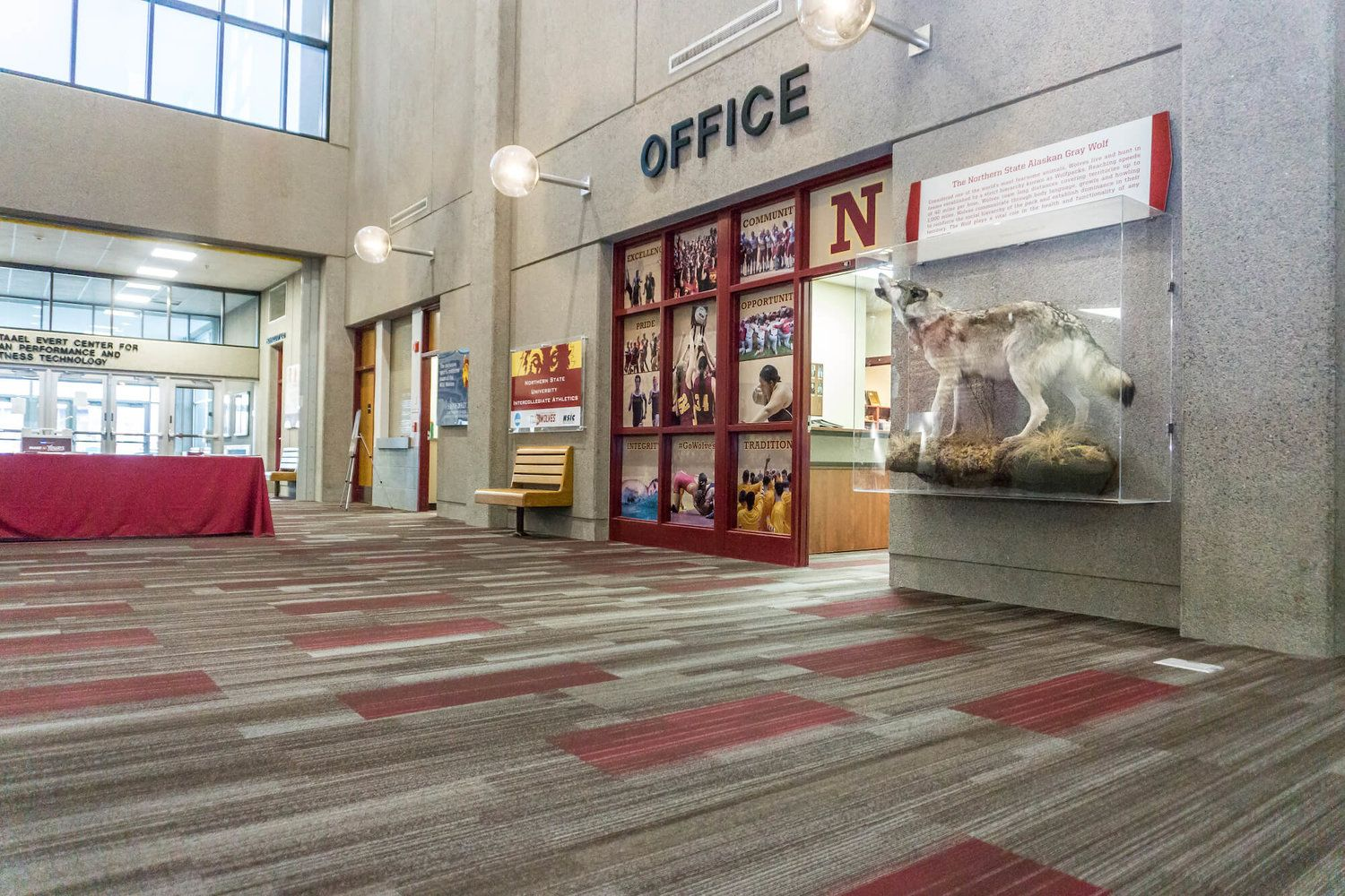 New Flooring Provided And Installed By Builders Firstsource Of Aberdeen Project Location Barnett Center At Northern State University Builder State University