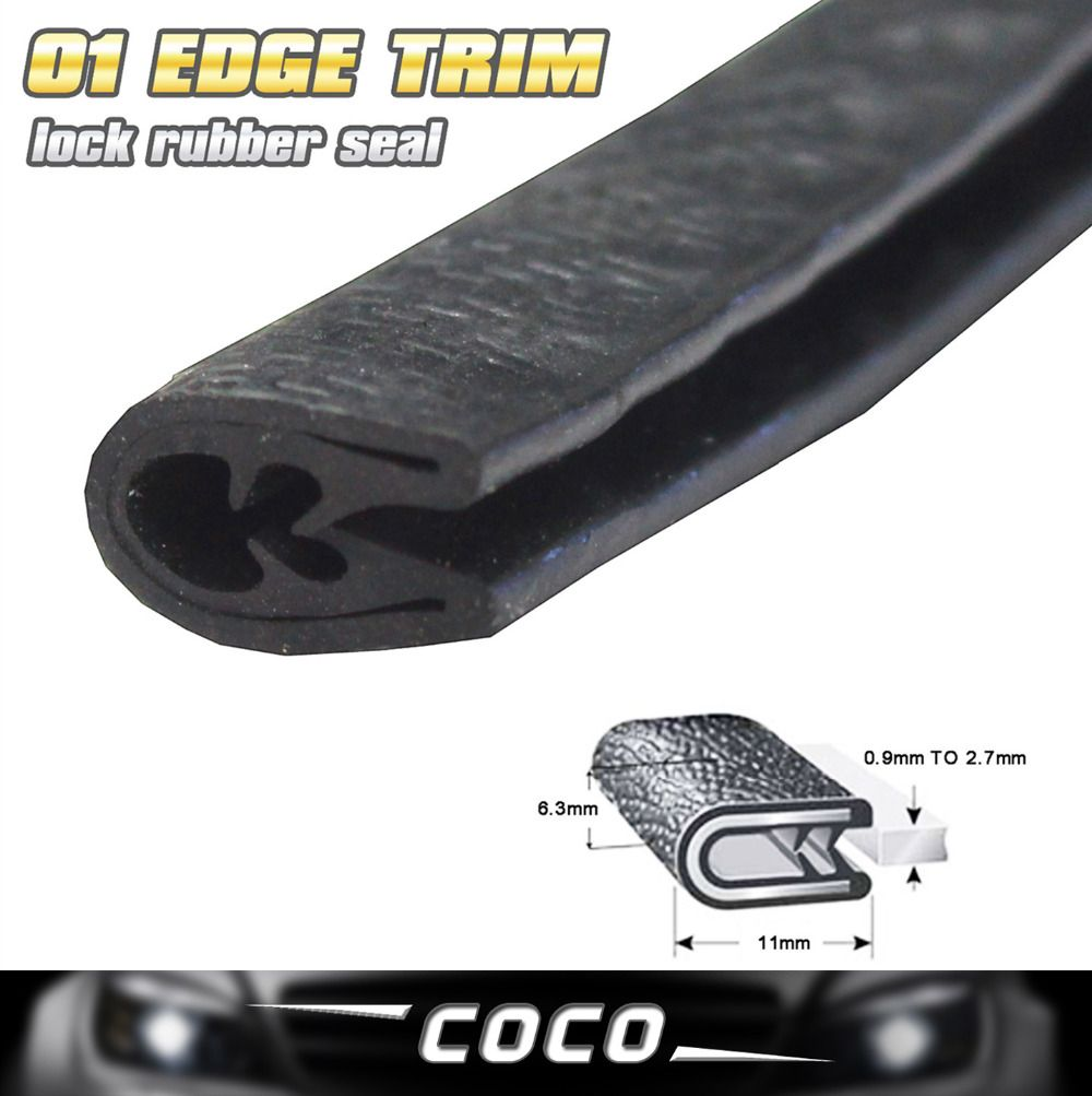 01 Black Rubber Interior Amp Exterior Protector Car Edge