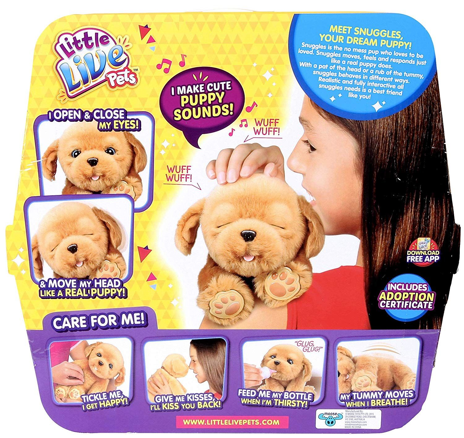 Amazon Com Little Live Pets Snuggles My Dream Puppy Little Live Pets Gateway Little Live Pets Puppy Snuggles Snuggles