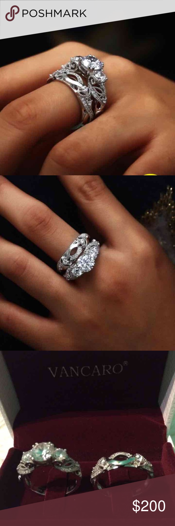 Engagement Ring Butterfly Wedding Ring Set With Infinity