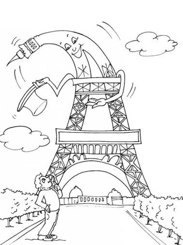 Coloriage Pays Et Regions Coloriage Tour Eiffel Coloriage Coloriage Paris