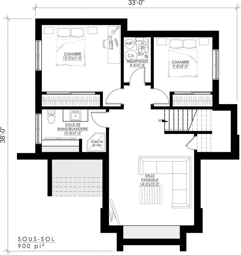 Notre plan de maison moderne Ë_140 est vendu directement en ligne et ...