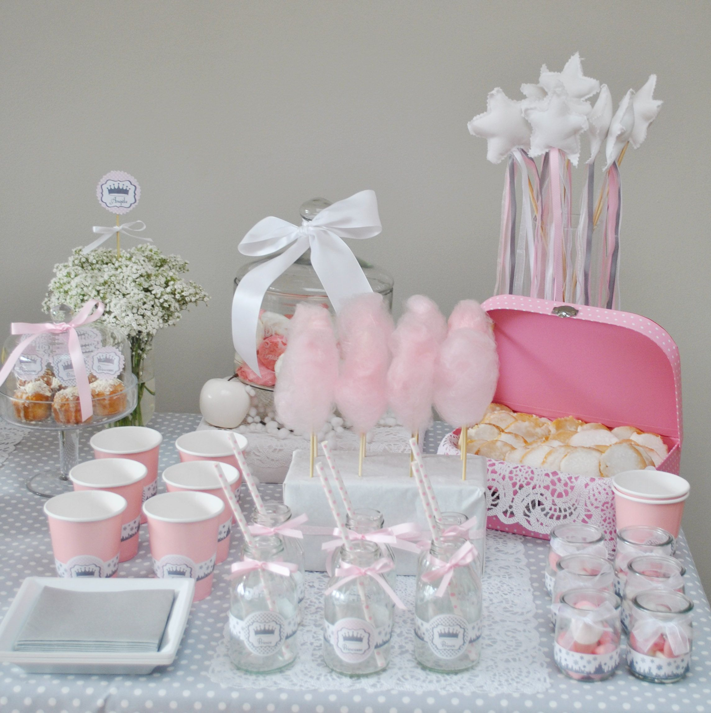 Sweet table baby shower baby shower pinterest babies - Idees decoration bapteme fille ...