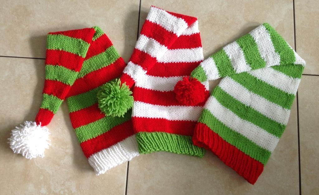 Quick and Easy Knit Santa Hat via Craftsy