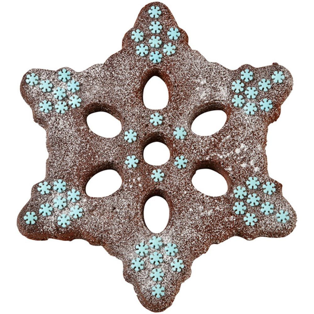 All snowflakes are unique, but make one that?s delicious using your favorite brownie recipe. Bake the shape using the Wilton Snowflake Tube Cake Pan.