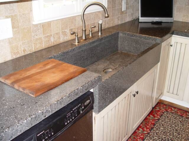 Concrete Counter Tops And Sink