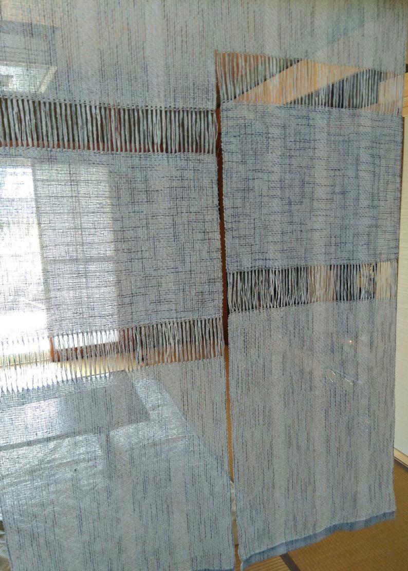 Handwoven Japanese Noren Curtain Room Divider Room Divider