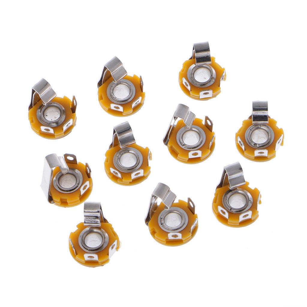 242 10 Pcs 1 4 Inch 635mm Stereo Socket Jack Female Connector Wiring Panel Mount Solder