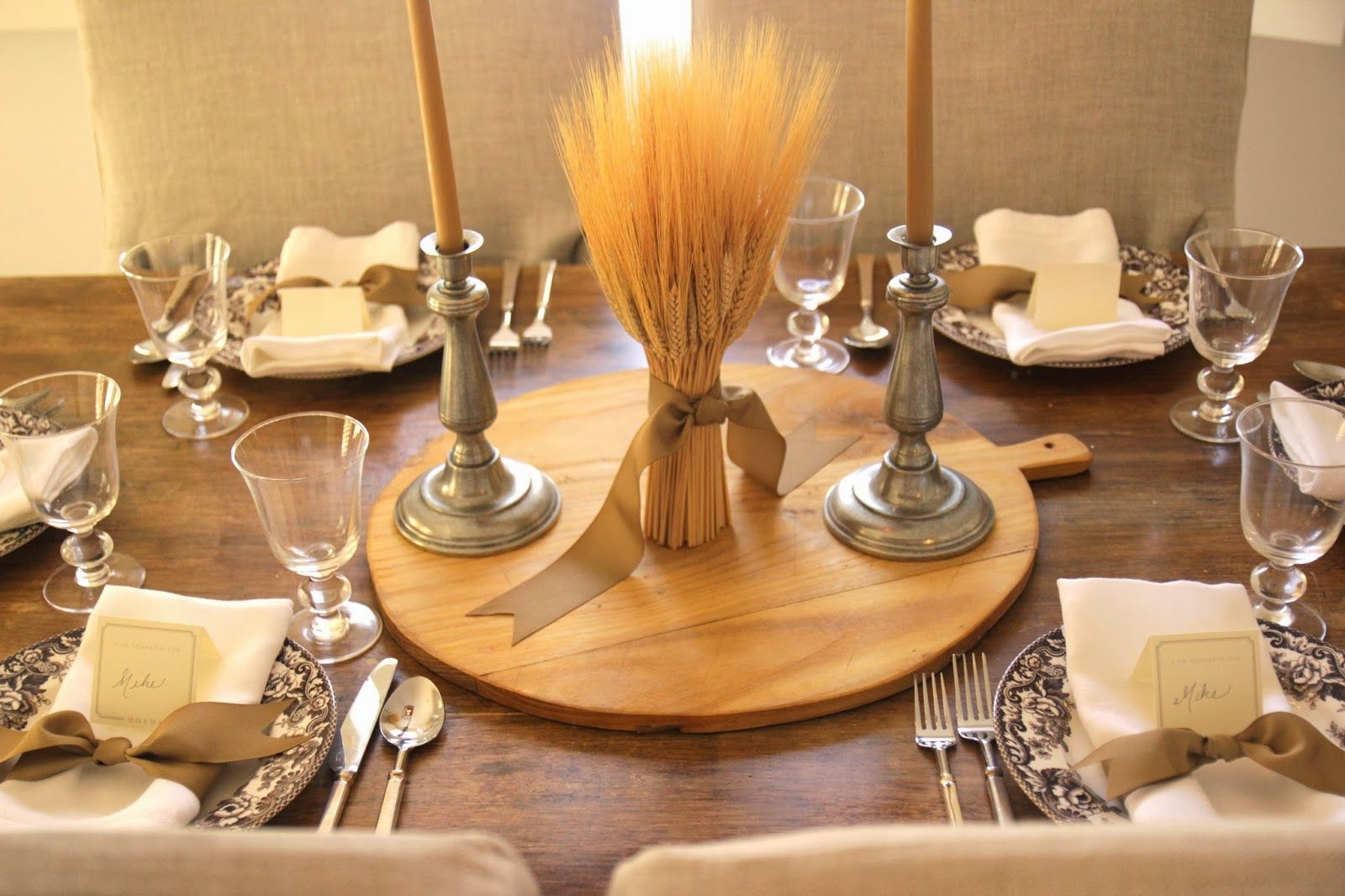 Thanksgiving Amp Holiday Products Wheat Centerpiece With