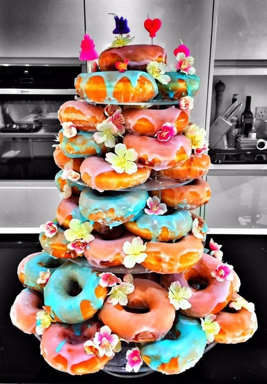 I Ate Donut Tower Not The Whole Thing Food In 2019