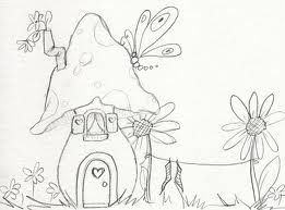 fairy house drawing - Google Search | Crafty Ideas