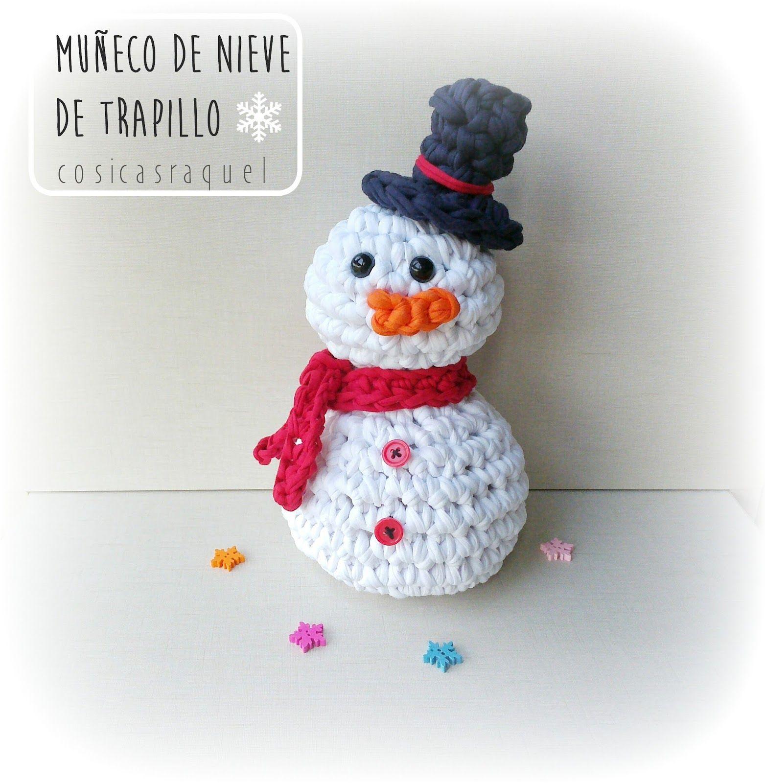 Atractivo Patrón De Tejer Muñeco De Nieve Libre Adorno - Patrón de ...