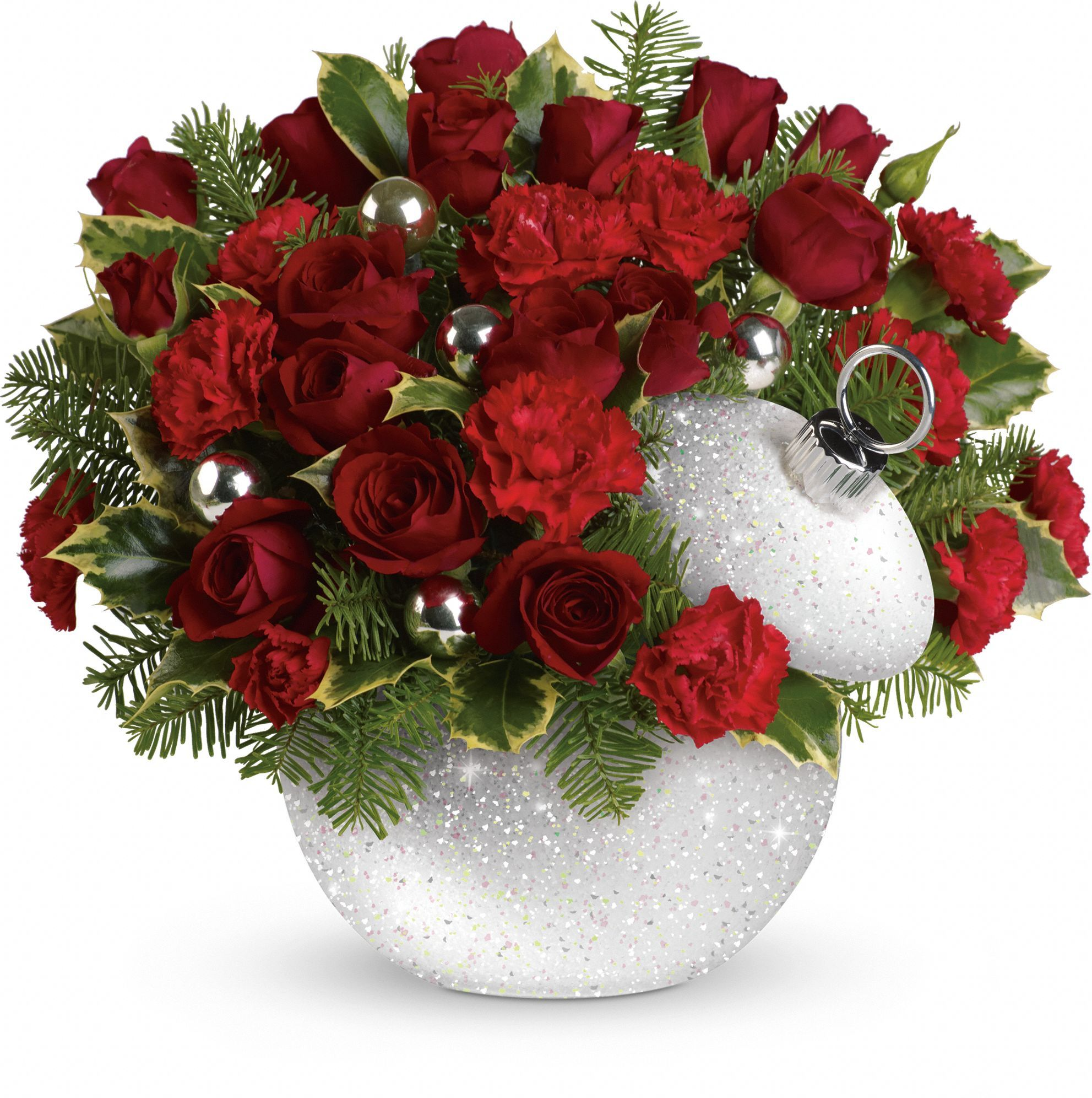 Teleflora's Shimmering Snow Bouquet Christmas flower