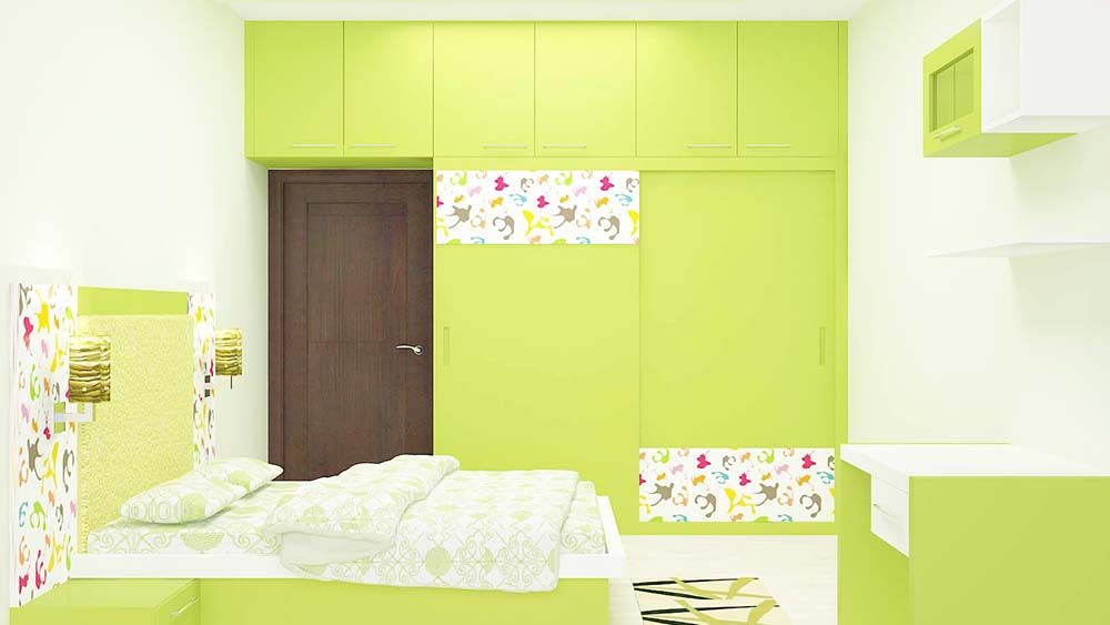 Eye Captivating Bedroom Set With Dazzling Color Adds