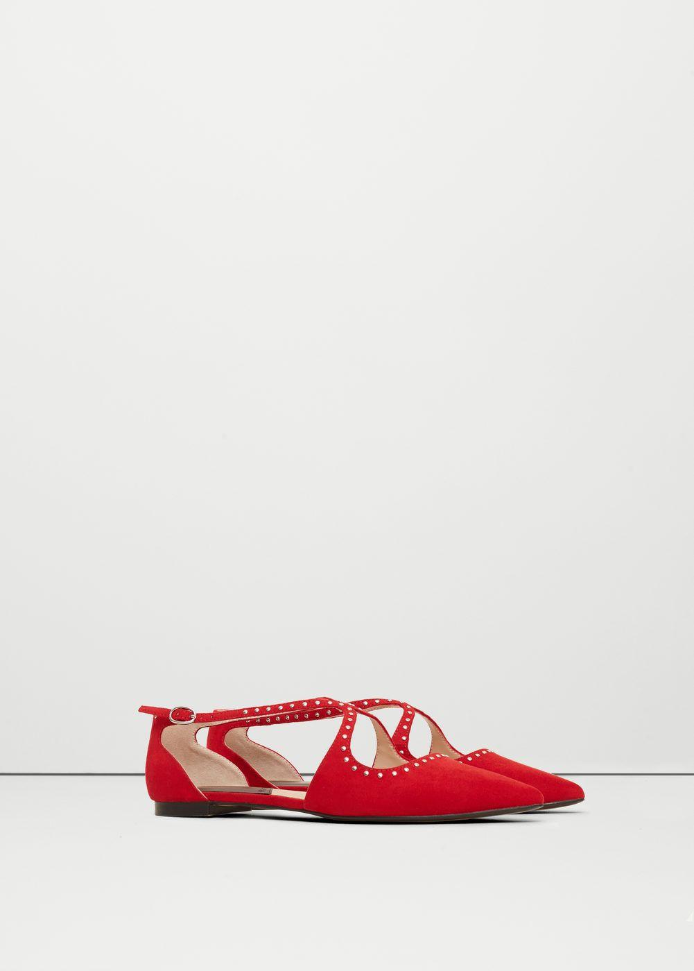 Studded Flat Shoes Women Mango Usa Pointed Toe Flats Studded Flats Shoes Flats