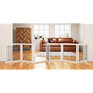 PAWLAND 144-inch Extra Wide 30-inches Tall Dog gate with Door Walk Through, Freestanding Wire Pet Gate for The House, Doorway, Stairs, Pet Puppy Safety Fence, Support Feet Included, White,6 Panels | THE BIG DEAL#144inch #30inches #big #deal #dog #door #doorway #extra #feet #fence #freestanding #gate #house #included #panels #pawland #pet #puppy #safety #stairs #support #tall #walk #white6 #wide #wire