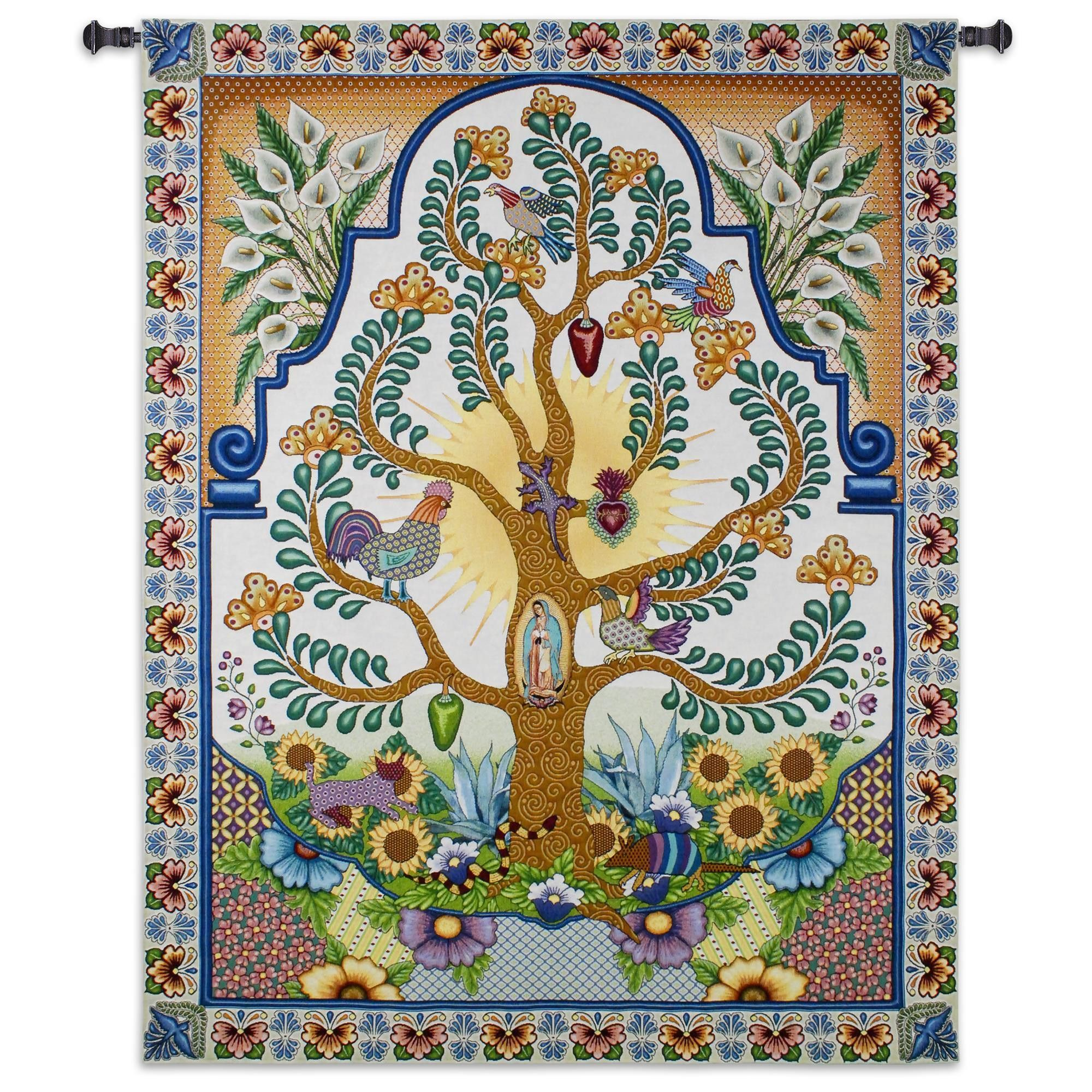 Mexican Folk Art Tree Of Life Wall Tapestry Fine Art Tapestries Tapestry Tree Of Life Tapestry It is the structure of the 10 sefirot (or sephirot), arranged in 3 pillars. mexican folk art tree of life wall