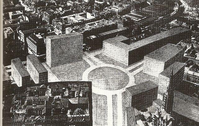 Alexanderplatz Berlin Mies Van Der Rohe Architecture Drawing Van Der Rohe