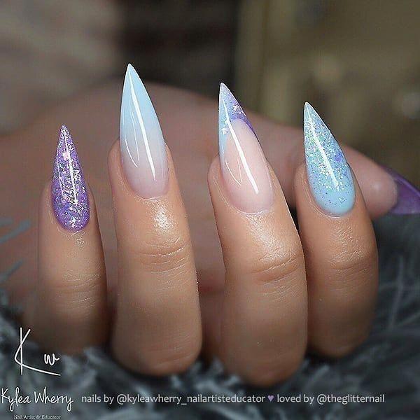 Nail Polish Arti Indonesia: French Nails With Diamonds Nailart #frenchnailtipideas