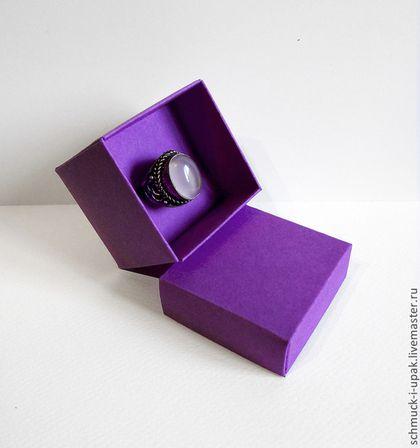 Коробки на заказ малым тиражом! Самосборная коробочка для кольца (с дисплеем).