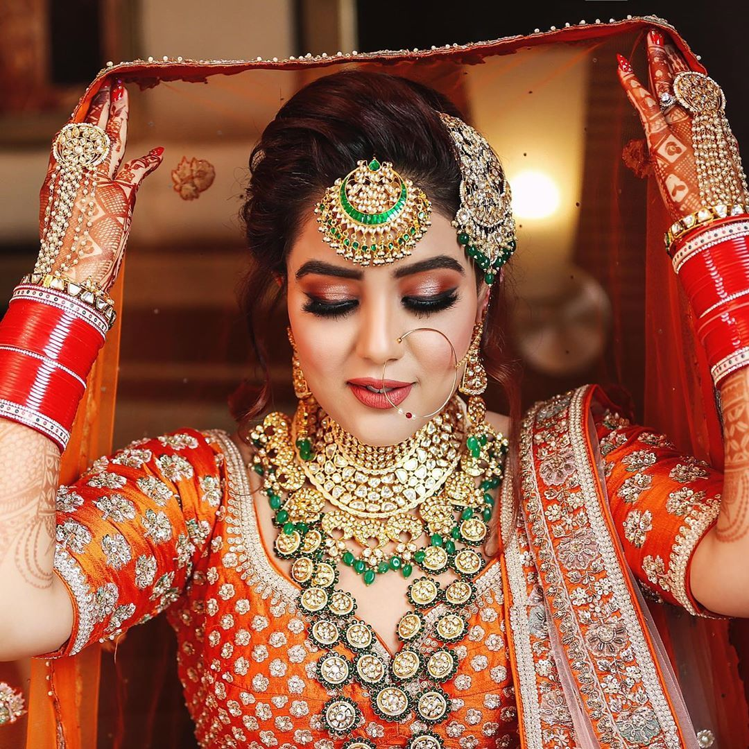 8 242 Likes 51 Comments Leena Bhushan Facestoriesbyleenabhushan On Instagram Bride Sukhnal Mak Indian Bridal Makeup Bride Makeup Bridal Makeup Looks