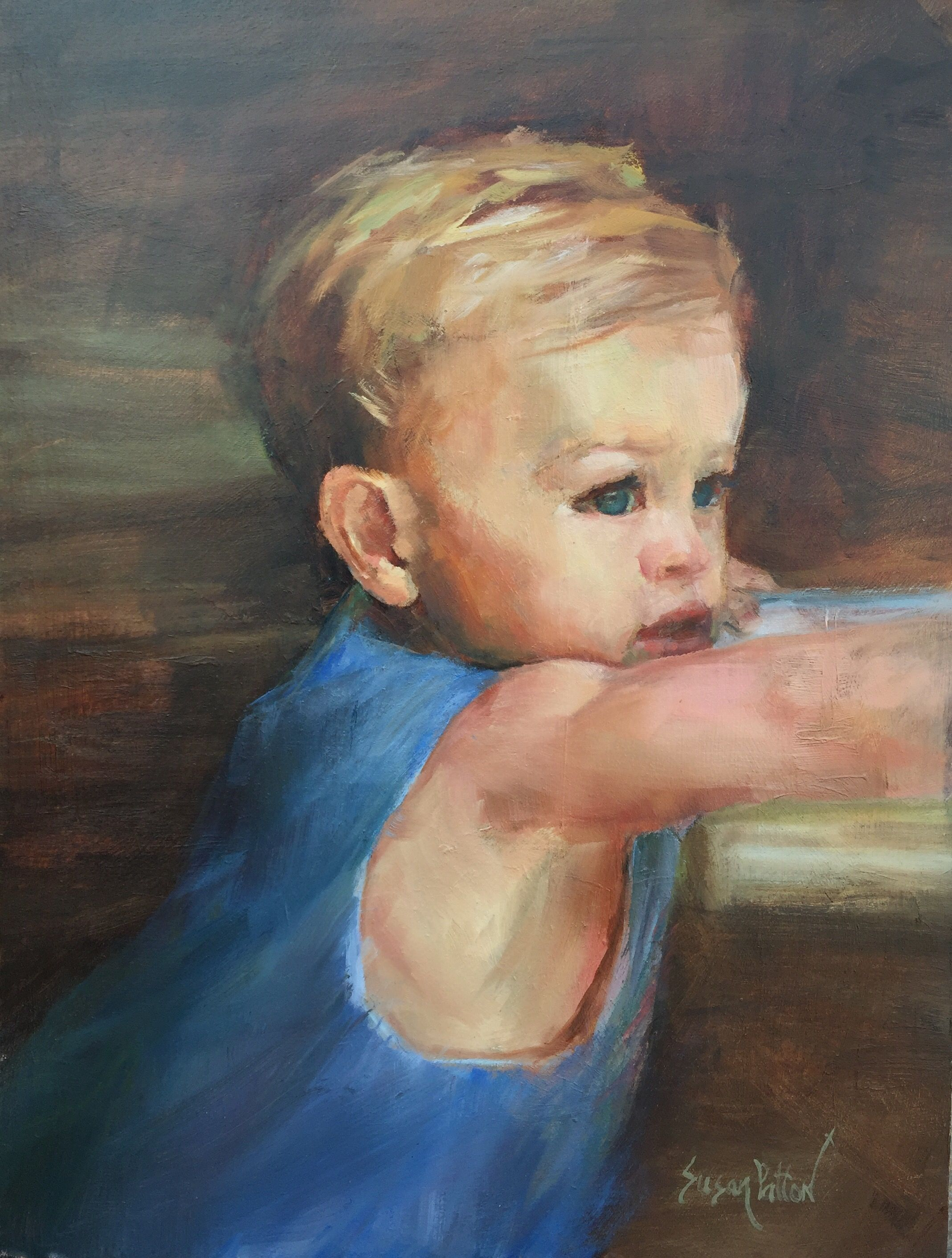 First Haircut 1216 Oil People Portraits By Lisa Green