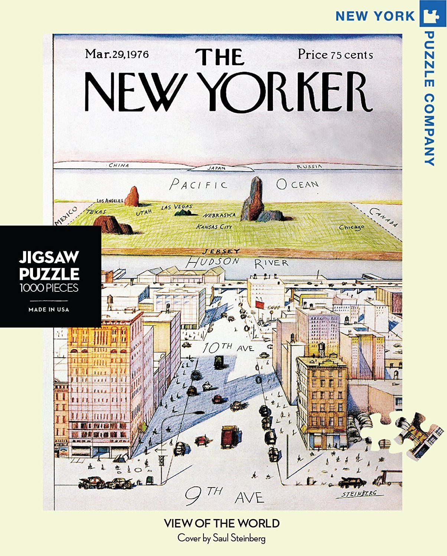 Aquarius Puzzles Subway Map.Amazon Com New York Puzzle Company New Yorker View Of The World
