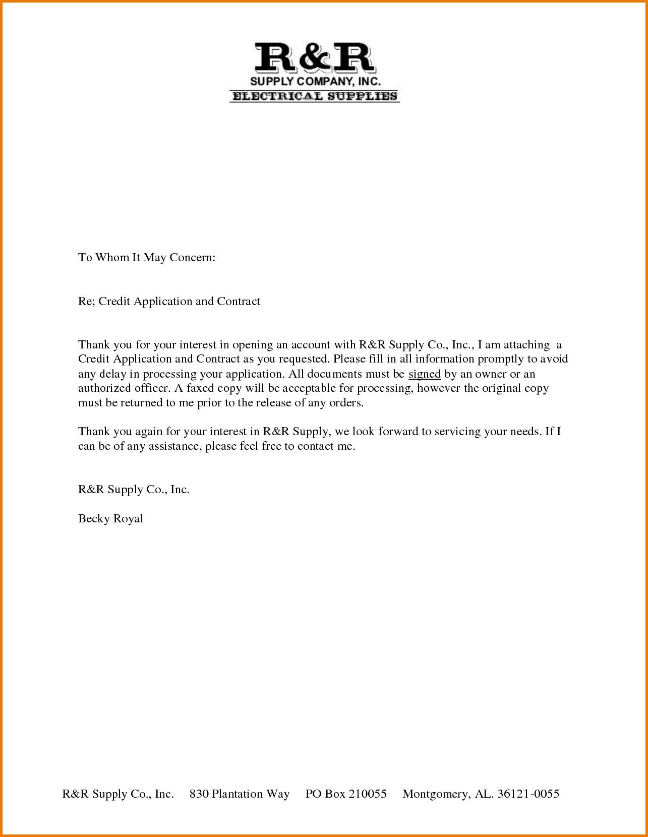 Cover Letter To Whom It May Concern Cover Letter Format To