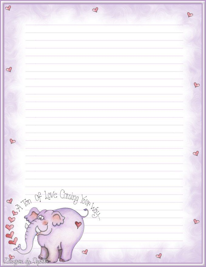 Printable flamingo stationery and writing paper Free PDF - notebook paper download