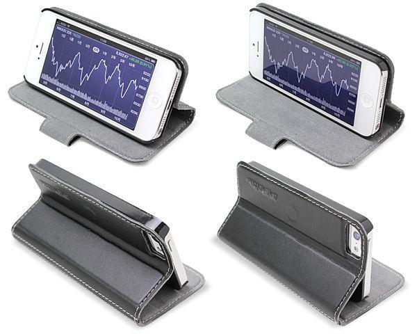 PDAIR レザーケース for iPhone 5 横開きタイプ(スタンド機能付)