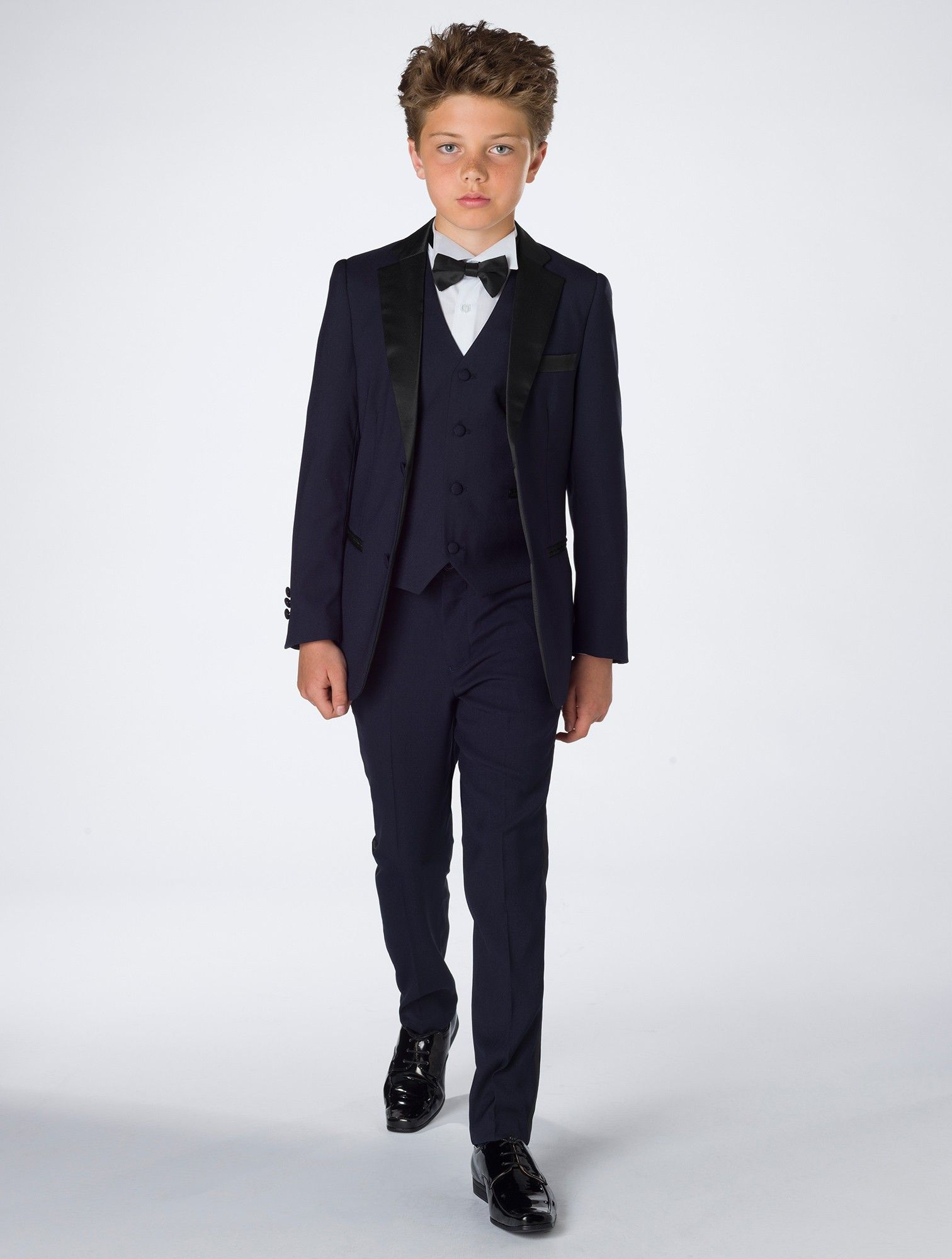 Boys Navy Tuxedo Prom Suits Roco