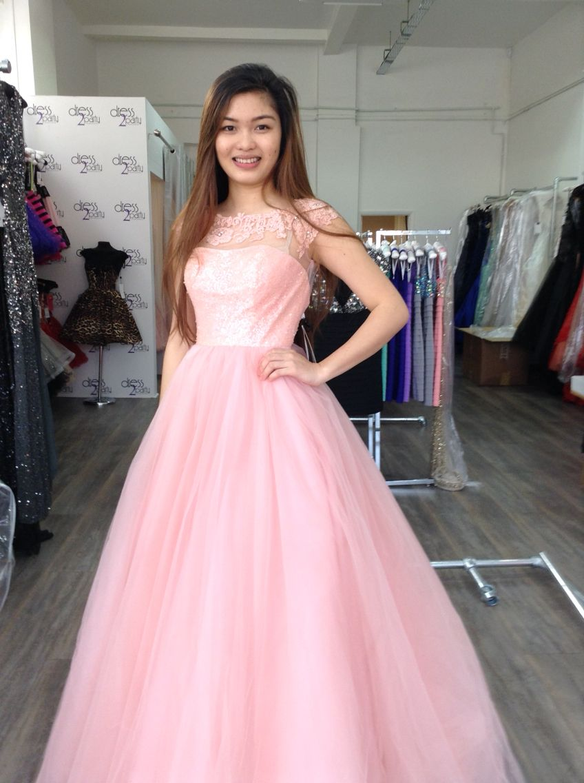 Pretty in pink customer in our London store | Dress 2 Party Girls ...