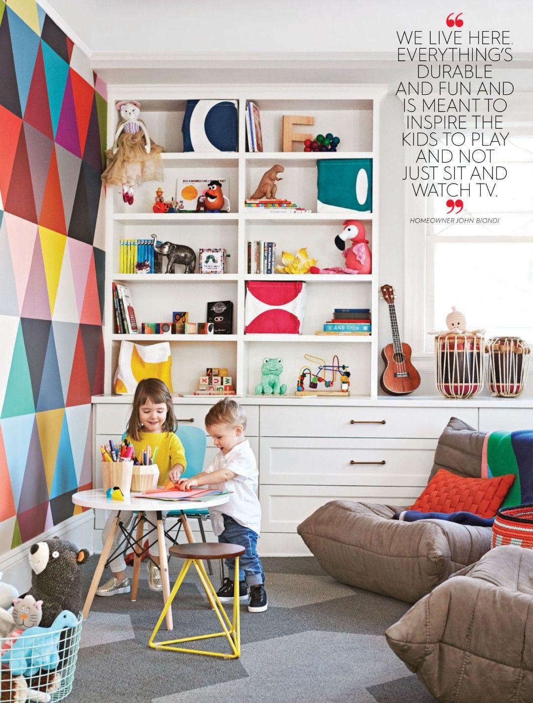 Better Homes And Gardens Magazine Playroom Wall Decor Modern