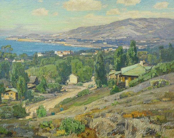 Crystal Cove   by William Wendt   Giclee Canvas Print Repro