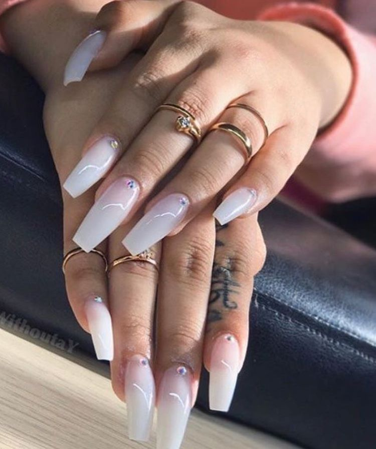 pinterest: @ gxoxo_ ♡   Coffin nails designs, Cute acrylic