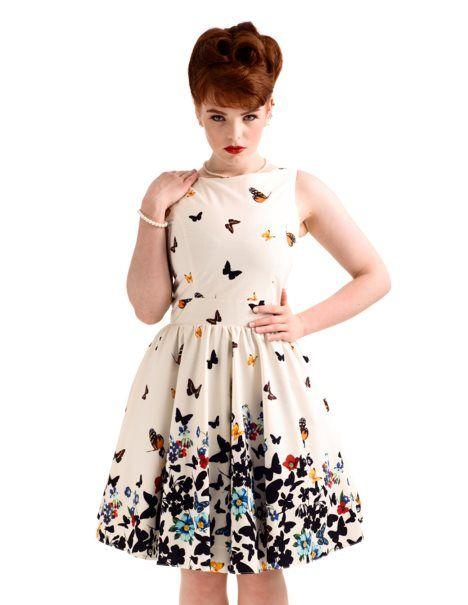 148f680b296f1d Hübsche Klamotten, Kleidung, Schmetterling Kleid, Brautkleid, Einschulung, Vintage  London, Rockabilly