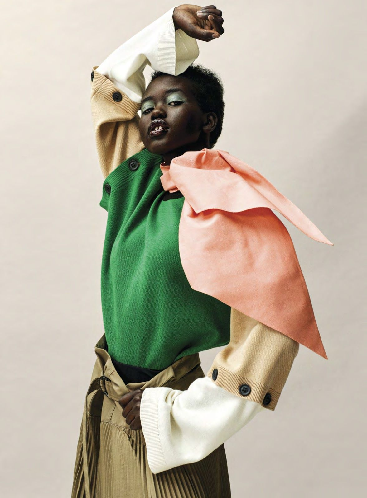 a990f8aee2b1 Adut Akech in Vogue USA January 2019 by Josh Olins