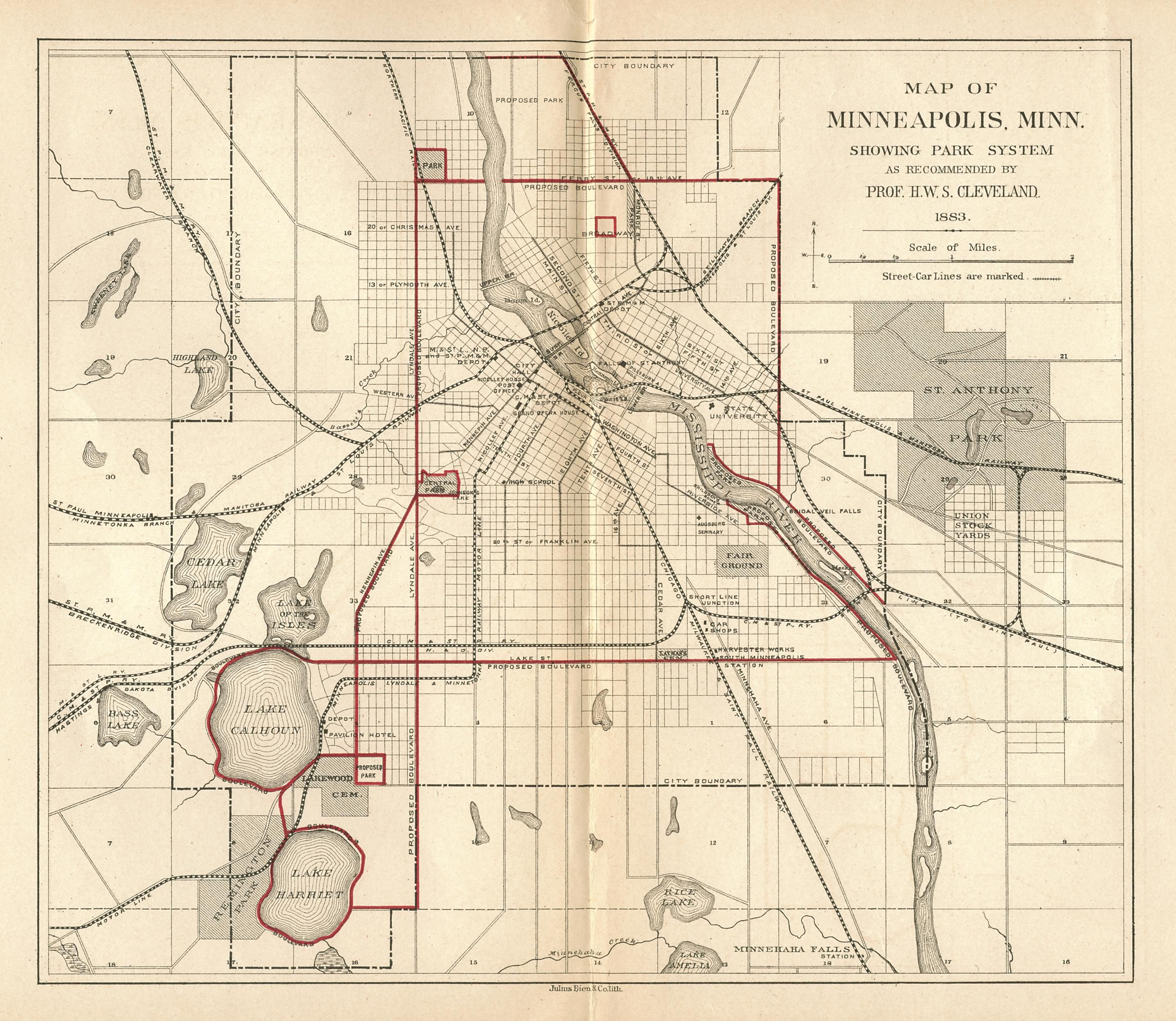 Horace Cleveland proposed this system of parks and parkways in 1883