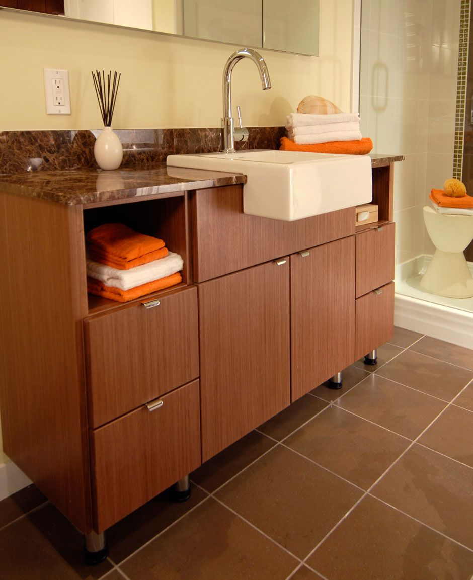 modern bathroom cabinet doors. Master Bathroom Cabinets With Modern Echo Wood Veneer Slab Cabinet Doors Vertical Grain.