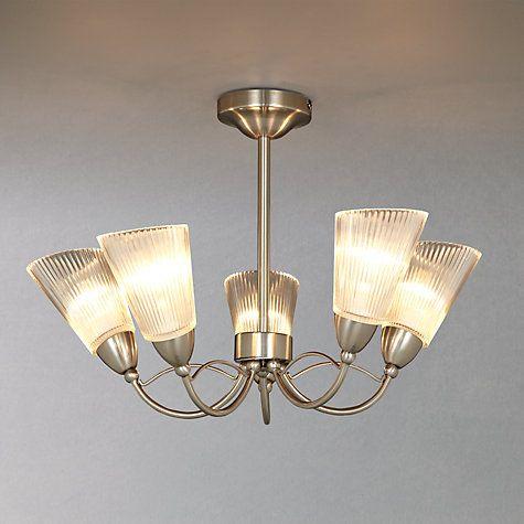 Buy john lewis monique semi flush light 5 light online at johnlewis com
